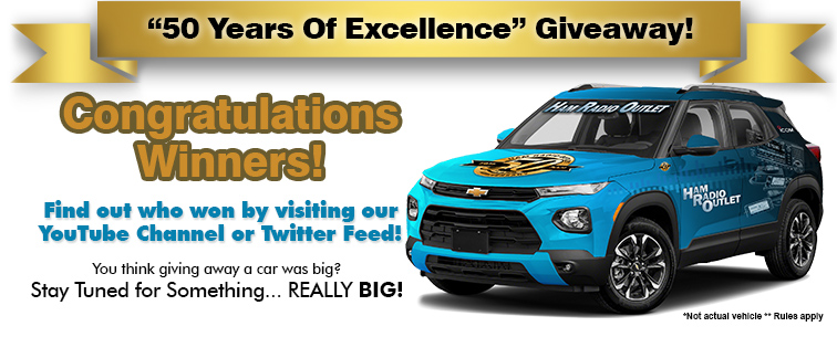 Ham Radio Outlet's 50th Anniversay Giveaway Winners